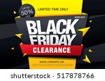 black friday sale banner | Shutterstock .eps vector #517878766