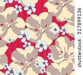 set of tender color flowers....   Shutterstock .eps vector #517899136
