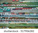 railway tracks and colorful... | Shutterstock . vector #517906282