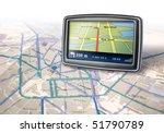gps auto navigator device on... | Shutterstock . vector #51790789