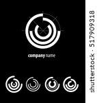 sector circle logo. technology  ... | Shutterstock .eps vector #517909318