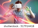 man with vr glasses | Shutterstock . vector #517914418