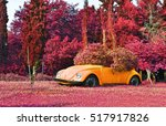 Small photo of AIGALEO GREECE, APRIL 23 2016: infrared landscape of Aigaleo park Greece. Editorial use.