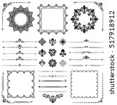 vintage set of classic elements.... | Shutterstock .eps vector #517918912