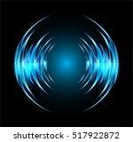 sound waves oscillating dark... | Shutterstock .eps vector #517922872