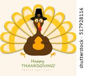 happy thanksgiving turkey | Shutterstock .eps vector #517928116