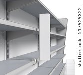 set of empty shelves with shelf ... | Shutterstock . vector #517929322