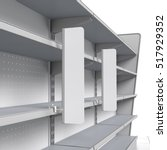 set of empty shelves with shelf ... | Shutterstock . vector #517929352