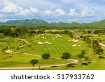 golf course with beautiful... | Shutterstock . vector #517933762