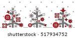 christmas trees | Shutterstock .eps vector #517934752