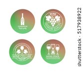 wine logos in blurred circles...   Shutterstock .eps vector #517938922