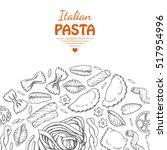 vector background with italian... | Shutterstock .eps vector #517954996