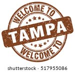 welcome to tampa. stamp. | Shutterstock .eps vector #517955086