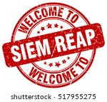 welcome to siem reap. stamp.   Shutterstock .eps vector #517955275