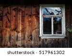 The Window Of The Old Wooden...
