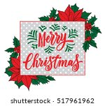 merry christmas card. vector... | Shutterstock .eps vector #517961962