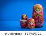 old wooden russian nesting... | Shutterstock . vector #517964722