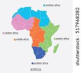 map of africa   vector... | Shutterstock .eps vector #517968382