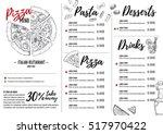 hand drawn vector illustration  ... | Shutterstock .eps vector #517970422
