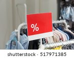 discount percent sign. bargains ... | Shutterstock . vector #517971385