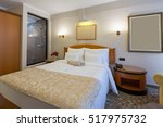 interior of a new hotel bedroom ... | Shutterstock . vector #517975732