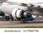 Engine Of Passenger Jet...