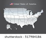 usa map | Shutterstock .eps vector #517984186