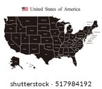 usa map | Shutterstock .eps vector #517984192