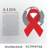 world aids day. 1st december... | Shutterstock .eps vector #517994746