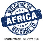 welcome to africa. stamp. | Shutterstock .eps vector #517995718