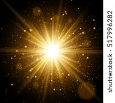 star burst with sparkles. light ... | Shutterstock .eps vector #517996282