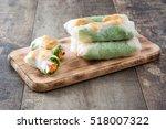 vietnamese rolls with... | Shutterstock . vector #518007322