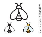 honey bee icon. vector... | Shutterstock .eps vector #518008978