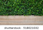green leaf with sand wash... | Shutterstock . vector #518021032