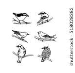 vector graphic set of hand... | Shutterstock .eps vector #518028382