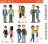 gays and lesbian couple. lgbt.... | Shutterstock .eps vector #518036935