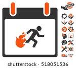 fire evacuation man calendar... | Shutterstock .eps vector #518051536
