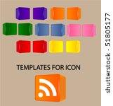 glass templates for icon design | Shutterstock .eps vector #51805177