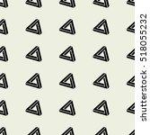 penrose triangle seamless... | Shutterstock .eps vector #518055232