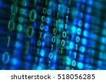 program code on a monitor  | Shutterstock . vector #518056285