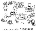 crisis theme. funny doodle...   Shutterstock .eps vector #518063452
