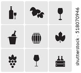 wine icons | Shutterstock .eps vector #518070946