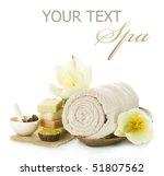 spa setting over white | Shutterstock . vector #51807562