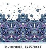 paisley amazing shawl square... | Shutterstock . vector #518078665