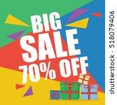 big sale seventy percent  | Shutterstock .eps vector #518079406