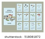 spices calendar of 2017. vector ... | Shutterstock .eps vector #518081872
