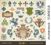 vecor set  heraldry   bits and... | Shutterstock .eps vector #51808318