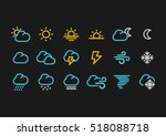 Color Weather Forecast Icons I...