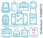 bags and suitcases | Shutterstock . vector #518088772