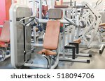 interior of a fitness hall with ... | Shutterstock . vector #518094706